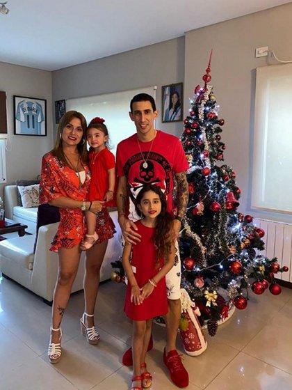 Ángel Di María la pasó junto a su esposa y sus dos hijas
