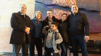 La familia Navarro contó con el apoyo de legisladores del Frente para la VIctoria