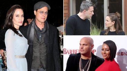 Brad Pitt y Angelina Jolie; Ben Affleck y Jennifer Garner; Mel B y Stephen Belafonte, sus historias de amor parecían eternas