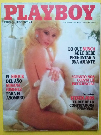 Susana Giménez en la primera tapa de Playboy en la Argentina