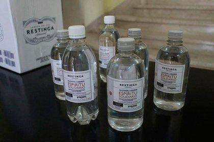 El alcohol que fue donado al municipio de Mar Chiquita