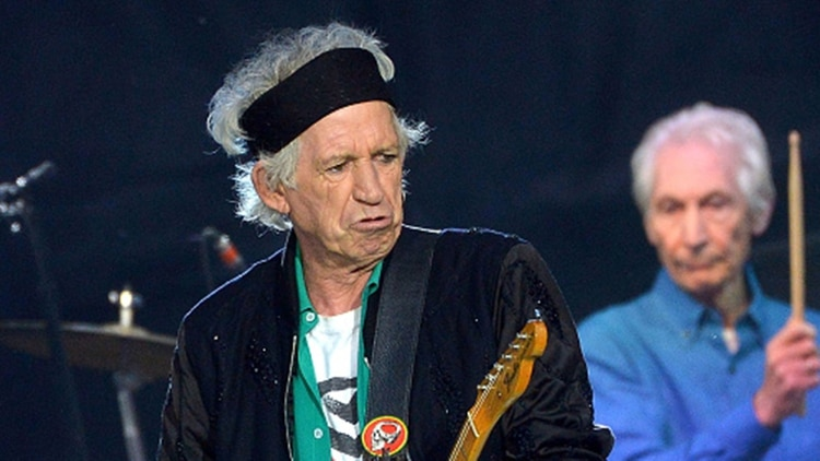 Keith Richards, guitarrista de los Rolling Stones (Getty)