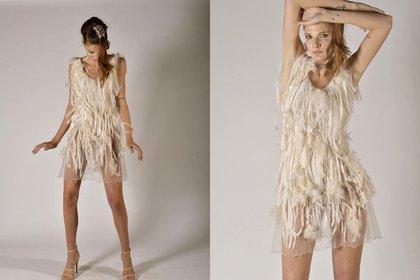 Con flecos y de gasa, uno de los diseños de Danse, la nueva colección de primavera-verano 2020 de la diseñadora Maureene Dinar