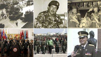 El papel de las Fuerzas Armadas fue cambiando a lo largo de la historia venezolana, aunque nunca dejaron de ser protagonistas