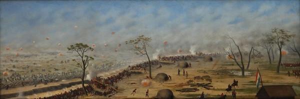 """""""Trinchera de Curupaytí, de Cándido López"""". Cándido López. 1893"""