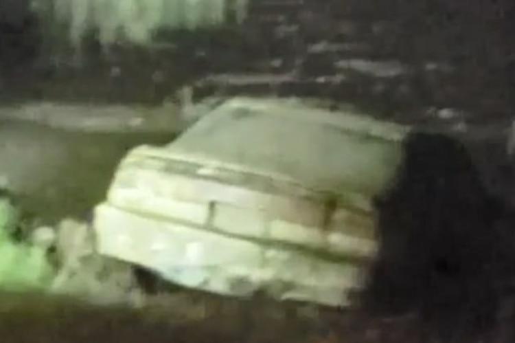 El auto estaba completamente calcinado, lo que indica que llevaba mucho tiempo en el lago (Foto: The Charley Project)