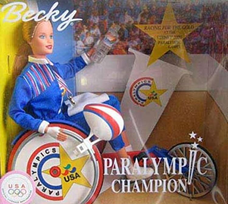 Becky, la campeona paralímpica, una muñeca de los años 90