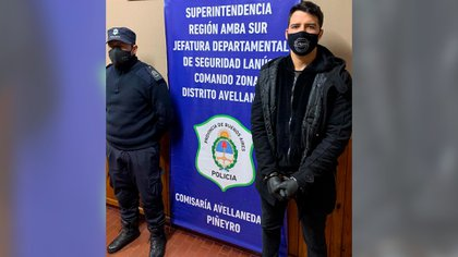 Alexis Zárate, tras la detención en la localidad de Piñeyro