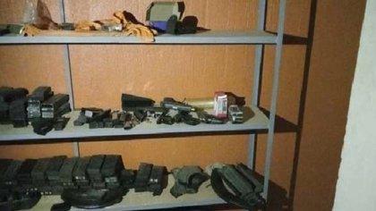 Al llegar a la finca se dieron cuenta de las armas (Foto: Cortesía)