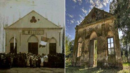 La capilla de San Mauricio, en Rivadavia, Buenos Aires