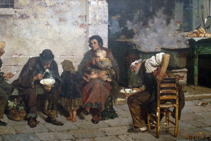 """""""La sopa de los pobres"""" (1884) de Reinaldo Giudici"""