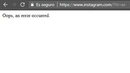 Los usuarios de varios países del mundo no pueden acceder a Instagram