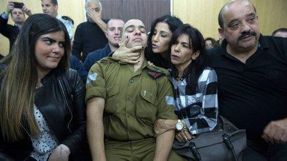 El soldado Elor Azaría fue declarado culpable en enero (AFP)
