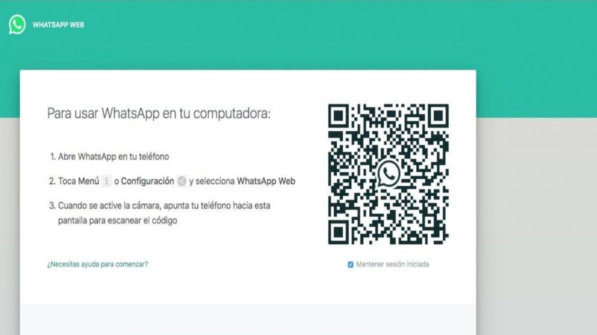 Whatsapp Web (Foto: Whatsapp Web Navegador Captura 10-02-20 de Pantalla)