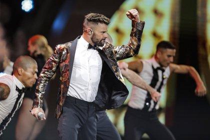 Ricky Martin abrió el Festival de Viña del Mar 2020 (Foto: JAVIER TORRES / AFP)