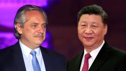 Alberto Fernández y Xi Jinping, líder de la República Popular China
