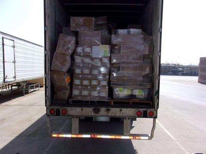 Un cargamento de metanfetamina decomisado en la frontera México-Estados Unidos (Foto: Twitter/CBP)