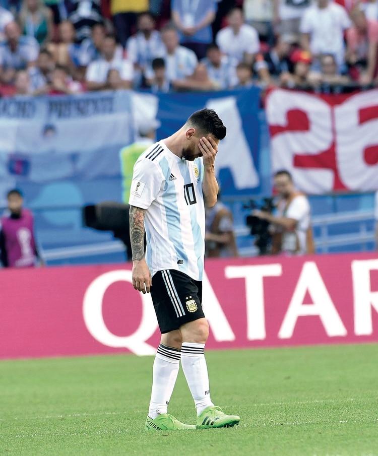 El final más temido. Argentina queda eliminada del Mundial de Rusia y se abre una incógnita sobre el futuro del equipo y de Messi en la selección. (Foto: archivo Gente)