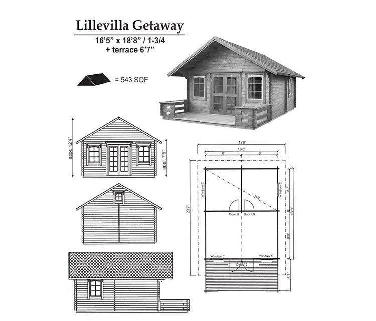 La configuración es simple: tres habitaciones en el piso principal que abarcan 27 metros cuadrados y un dormitorio tipo loft en el ático arriba