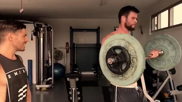 Luke Zocchi también diseñó una rutina exhaustiva para Chris Hemsworth (Instagram: @chrishemsworth)