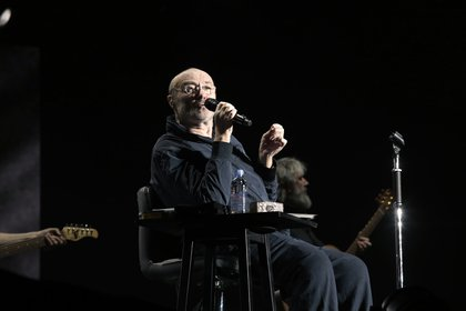 "Sir Phil Collins interpretó temas como ""Against All Odds"", ""Another Day in Paradise"", ""I Miss Again"" y ""Throwing It All Again"" (Christian Bochichio / Teleshow)"