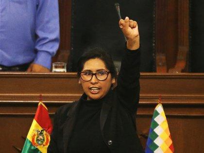 Eva Copa, senadora del MAS (REUTERS/Luisa Gonzalez)