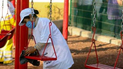 Las escuelas serán sanitizadas en todas las áreas. (Foto: Cuartoscuro)