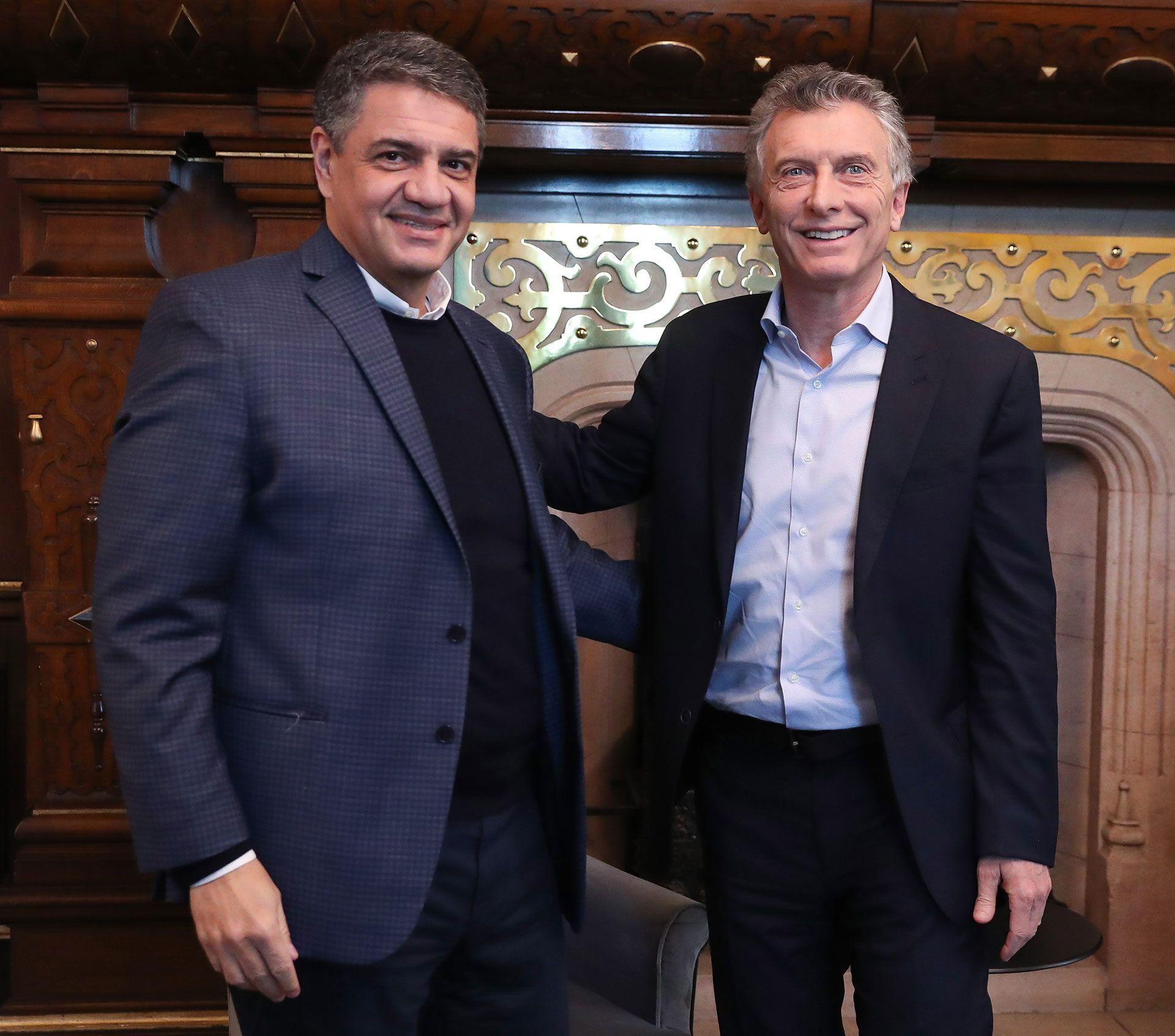 El intendente de Vicente López, Jorge Macri, junto a su primo, el ex presidente Mauricio Macri.