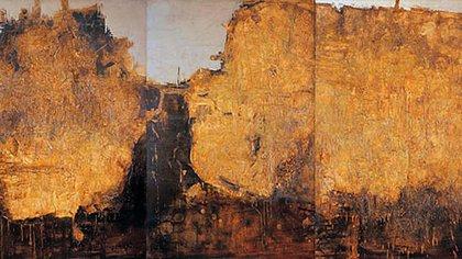 """""""De profundis"""", tríptico de Mario Pucciarelli con el que obtuvo el premio de 1960"""