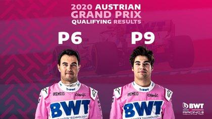 Al cabo de tres fechas, el equipo se ubica en la cuarta posición, detrás de Mercedez, Red Bull y McLaren. (Foto: Twitter/RacingPointF1)