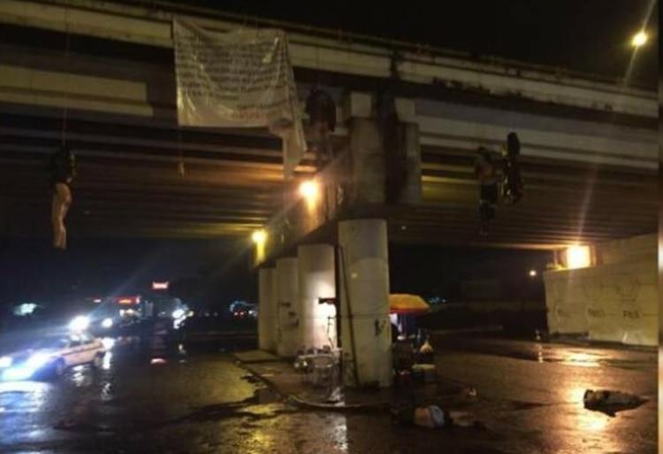 Este jueves se localizaron en Uruapan un total de 19 cuerpos en diferentes puntos del Bulevar Industrial de dicha ciudad de manera simultánea. (Foto: especial)