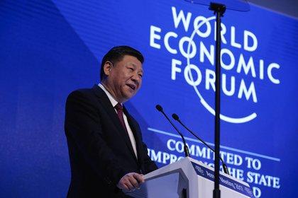 El presidente de China, Xi Jinping, en el Foro Económico Internacional en Davos (Bloomberg/Archivo)