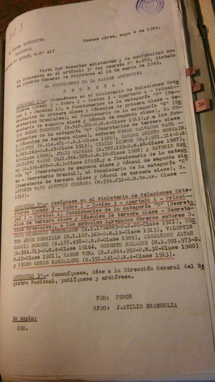 La carrera diplomática de Conde Magdaleno no se vio interrumpida por el incidente ruso (Gentileza Alicia Conde)