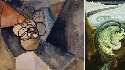 """""""Caoutchouc"""" de Francis Picabia y """"Glaciar"""", de Hans Schmithals"""