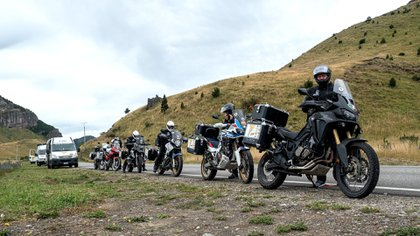 Los miembros de Moto for Peace llegaron a la Argentina la semana pasada