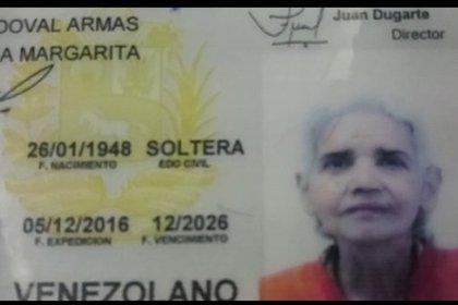 La cédula de la abuela que fue hallada muerta con su hermano por desnutrición, en Caracas