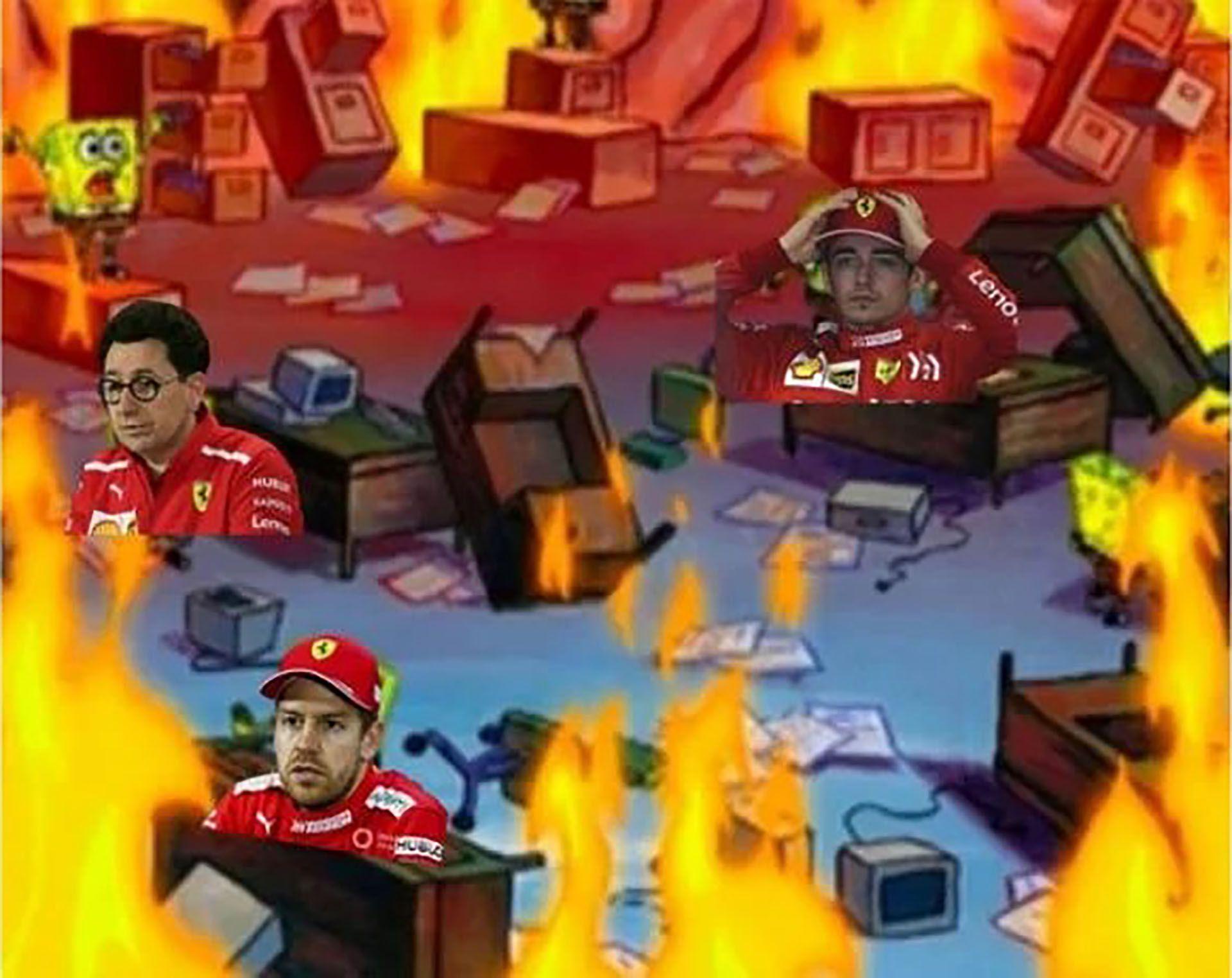Los mejores memes por el papelón de Ferrari