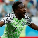 Soccer Football - World Cup - Group D - Nigeria vs Iceland - Volgograd Arena, Volgograd, Russia - June 22, 2018 Nigeria's Ahmed Musa celebrates scoring their first goal REUTERS/Toru Hanai