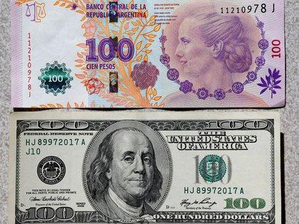 El peso argentino equivale hoy a 16 centavos de dólar, según la cotización oficial. (Reuters)