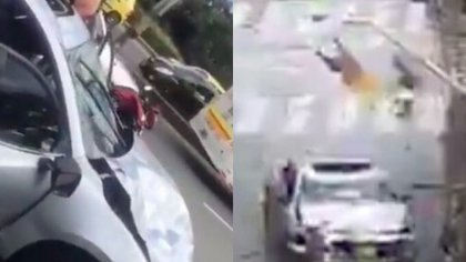 El aparatoso accidente ocurrió en Bello, Antioquia. Foto: Redes sociales
