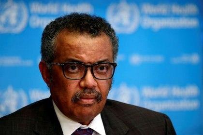 El director general de la Organización Mundial de la Salud (OMS), Tedros Adhanom Ghebreyesus, durante una conferencia de prensa en Ginebra, Suiza, Febrero 28, 2020. REUTERS/Denis Balibouse/