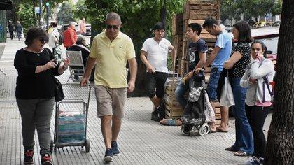 Los carritos y bolsas reutilizables son una buena opción para hacer compras (foto Nicolás Stulberg)