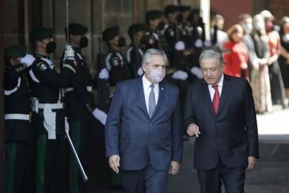 Alberto Fernandez y Andrés Manuel López Obrador