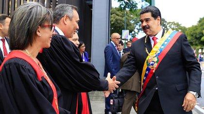 Maduro junto a Maikel Moreno, presidente del Tribunal Supremo