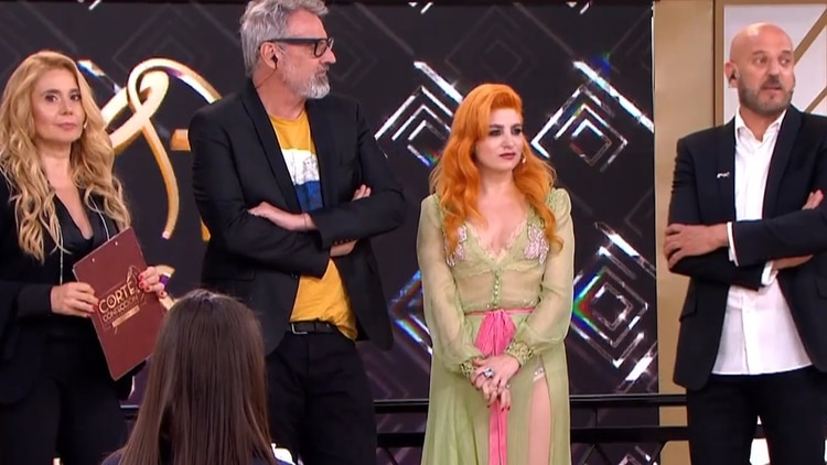 Benito Fernández, Verónica de la Canal y Fabián Zitta, los diseñadores jurado de Corte y Confección, el programa de moda (Canal 13)