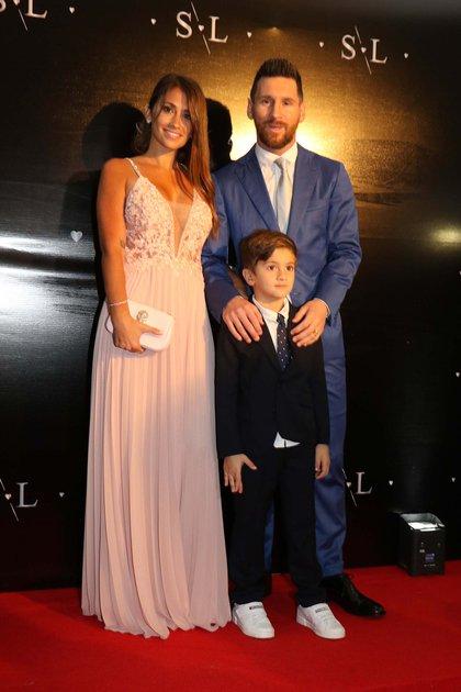 Anto Roccuzzo, Leo Messi y Thiago Messi  (M Souto GM press)