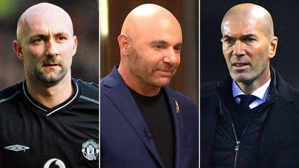 Los ex futbolistas Fabien Barthez y Zinedine Zidane y el chef Germán Martitegui, separados al nacer según Alex Caniggia