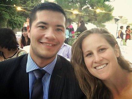 Gabriela y su esposo Cristian