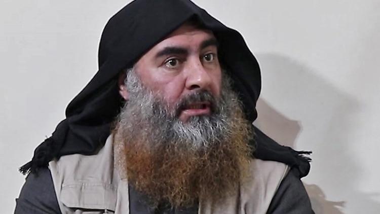 Al Baghdadi en su última aparición pública, en abril de 2019