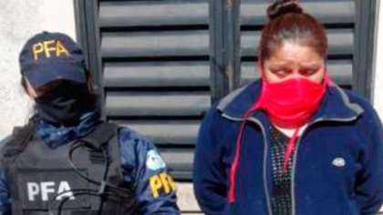 Una de las cómplices de los presos detenida en el operativo.